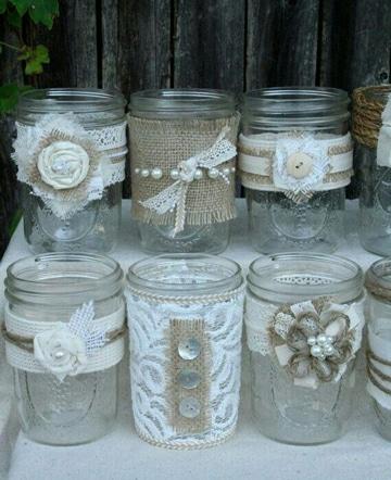 frascos decorados vintage sencillos