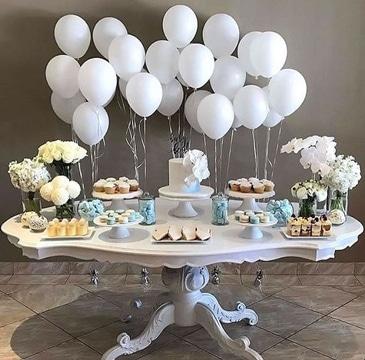 globos de helio para bodas mesa decorada