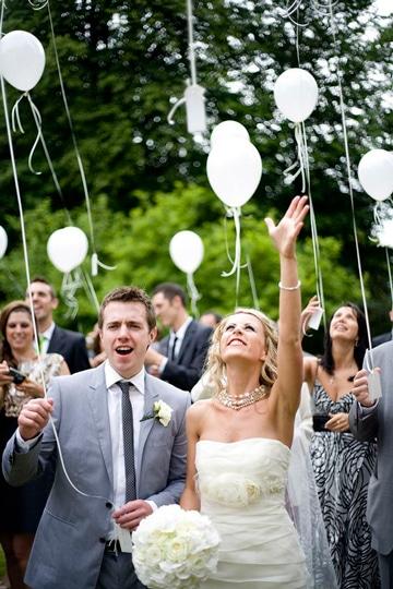 globos de helio para bodas sencillas
