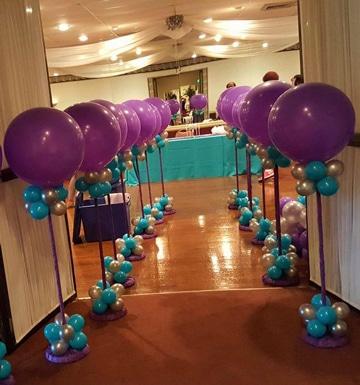imagenes de arreglos de globos decoracion salon