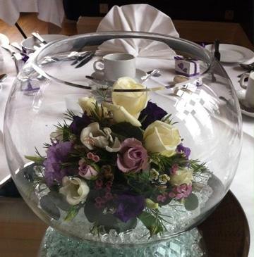 peceras para centros de mesa con flores