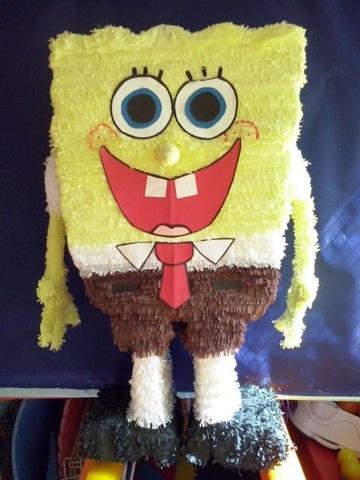 piñatas de bob esponja de cumpleaños