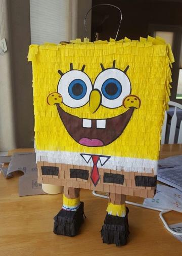 piñatas de bob esponja para fiestas