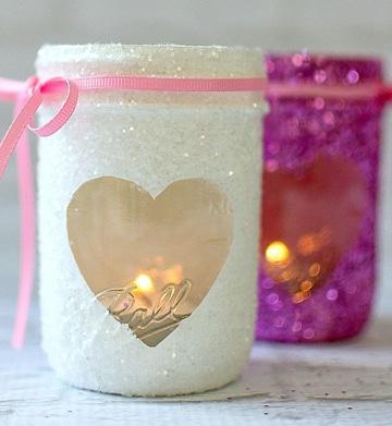 tarros de vidrio decorados glam
