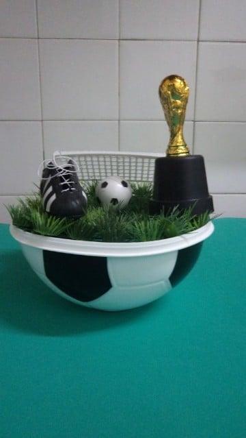 centro de mesa de pelota de futbol adultos