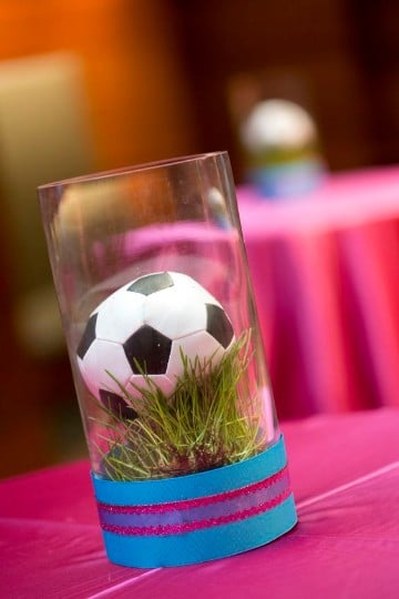 centro de mesa de pelota de futbol ideas