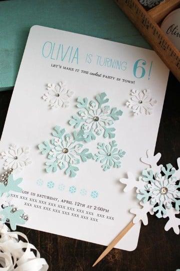 Materiales E Ideas De Como Hacer Invitaciones De Frozen