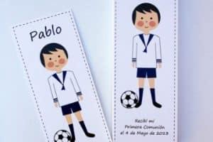 Idea tematica en decoracion de futbol para comuniones