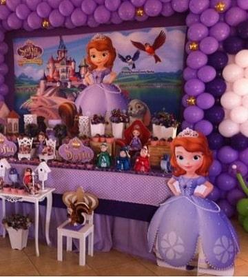 fiesta tematica de princesa sofia diseños