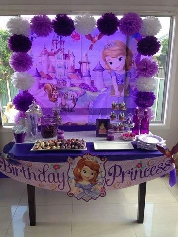 fiesta tematica de princesa sofia faciles