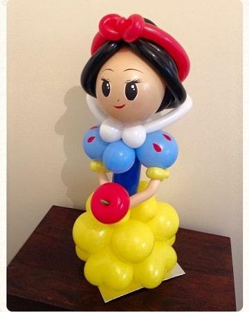 figuras de globos para niños blanca nieves