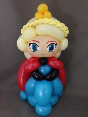 figuras de globos para niños frozen
