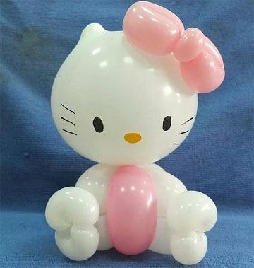 figuras de globos para niños hello kitty