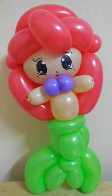 figuras de globos para niños sirenita