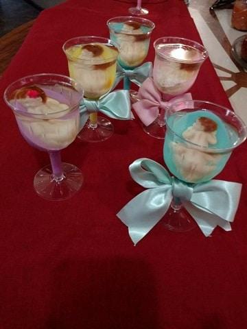 gelatinas para baby shower copas