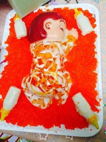 gelatinas para baby shower niña