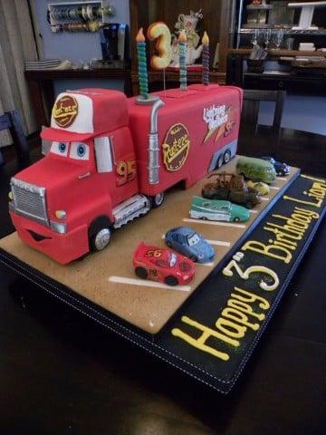 imagenes de tortas de cars camion