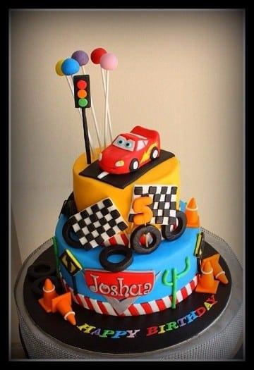 imagenes de tortas de cars con fondant