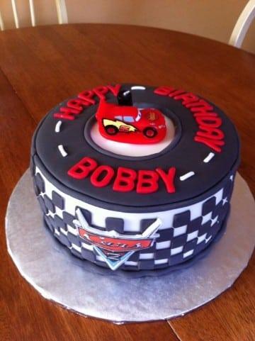 imagenes de tortas de cars sencilla