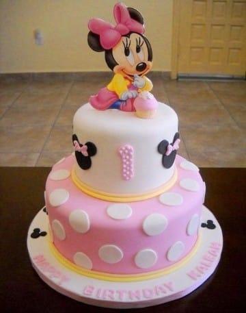 imagenes de tortas de minnie bebe