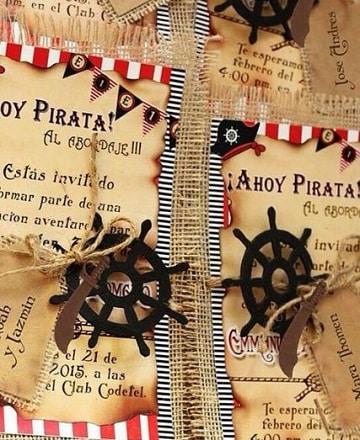 invitaciones de jake y los piratas ideas