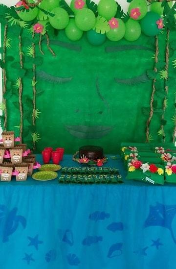 mesa de dulces de moana decoracion