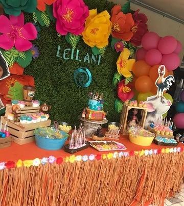 mesa de dulces de moana ideas