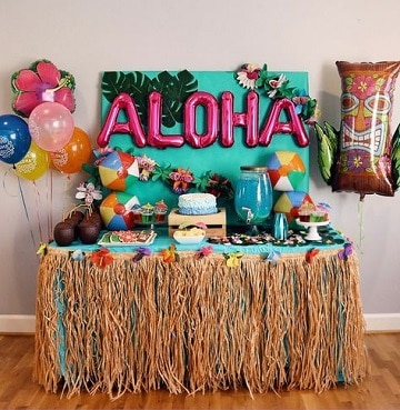 mesa de dulces de moana para cumpleaños
