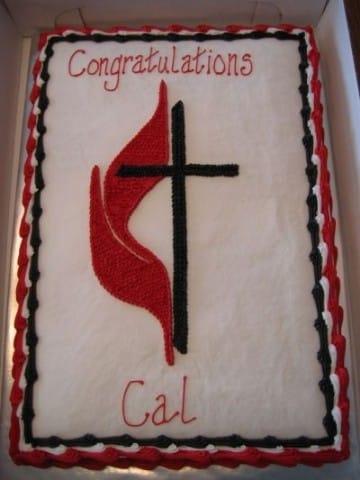 torta de confirmacion para varon rectangular