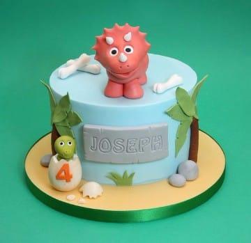 tortas de dinosaurios infantiles bebes