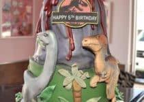 Asombrosos diseños en tortas de dinosaurios infantiles