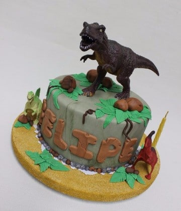 tortas de dinosaurios infantiles rex