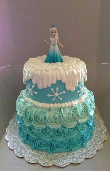 tortas de frozen con crema dos pisos