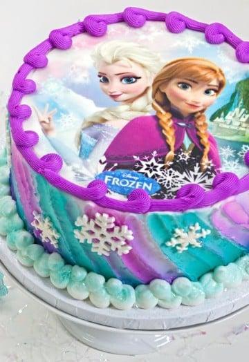 tortas de frozen con crema elsa y ana