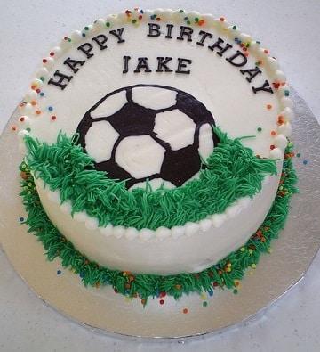 tortas de futbol para niños casera