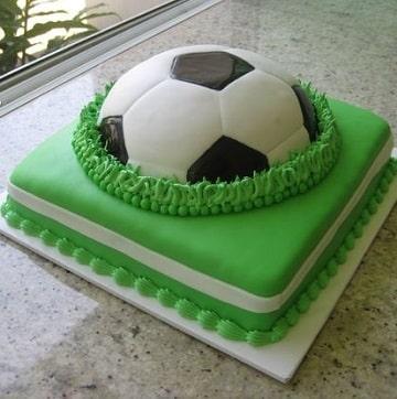 tortas de futbol para niños fondant