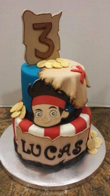 tortas de jake el pirata para niños