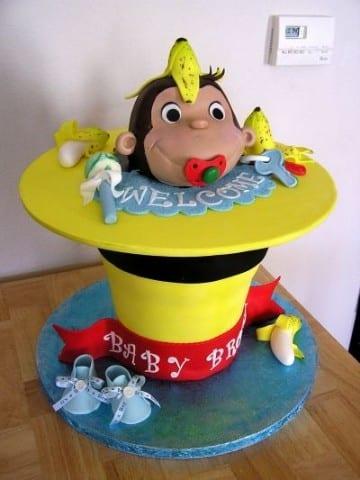 tortas de jorge el curioso baby shower