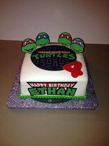 tortas de las tortugas ninjas cuadradas