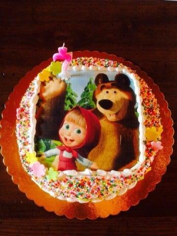 tortas de masha y el oso con merengue
