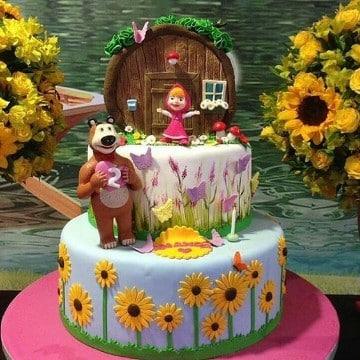 tortas de masha y el oso decoradas