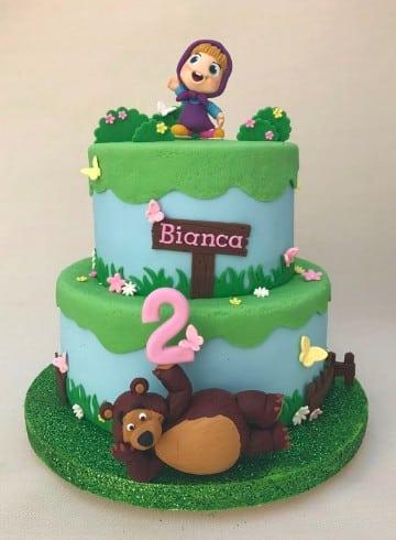tortas de masha y el oso para cumpleaños