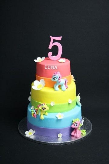 tortas de mi pequeño pony 3 pisos