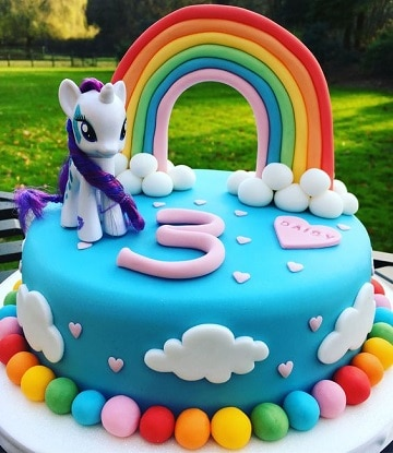 tortas de mi pequeño pony fondant