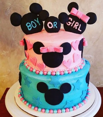 tortas de mickey y minnie baby shower