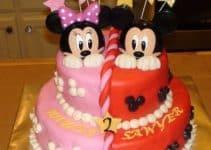 Diseños y decorados para tortas de mickey y minnie