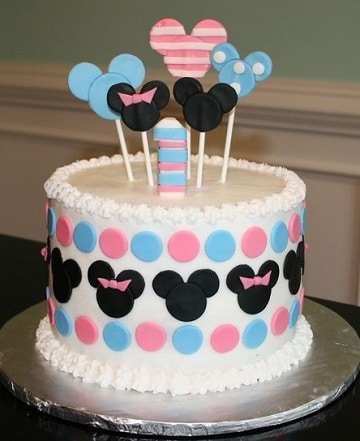tortas de mickey y minnie para niña