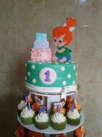 tortas de pebbles picapiedra para bebe
