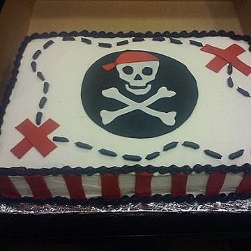 tortas de piratas para niños cuadradas
