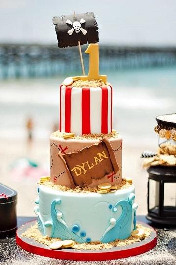 tortas de piratas para niños cumpleaños
